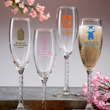 Champagne Glass Favors