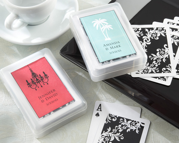 Cheap Personalized Playing Card Favors