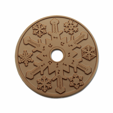 Chocolate CD Snowflake in Real CD Case - 20 CDs
