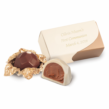 Chocolate Communion Truffles Favor