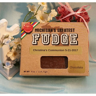 Chocolate Fudge Communion Favors
