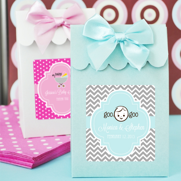 christening favor bags candy boxes set of 12
