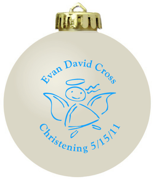 Baptism Ornament Personalized Christmas By Personalizedgallery: Christening Ornaments