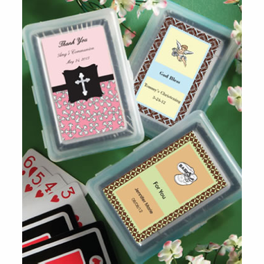 Christening Playing Cards