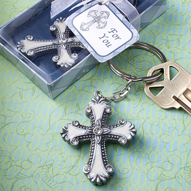 Christian Favors Cross Key Chain