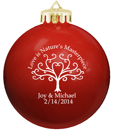 Christmas balls personalized wedding ornaments for Personalized christmas photo ornaments