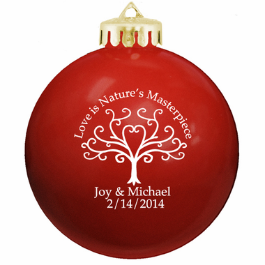 Christmas Balls Personalized Wedding Ornaments