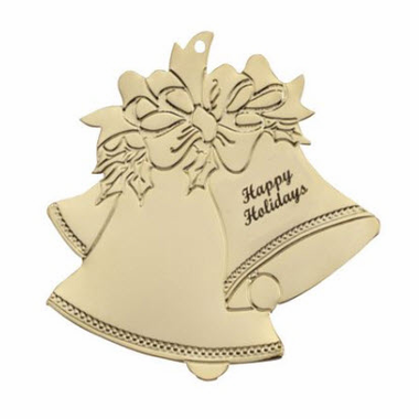 Christmas Bells Ornaments - Gold