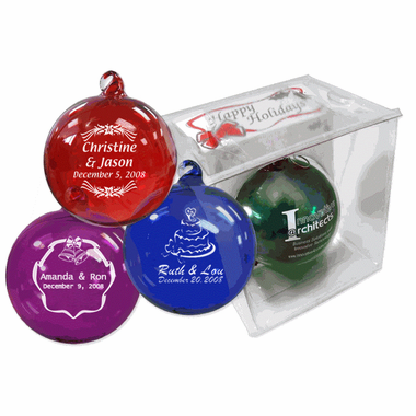 Christmas Ornament Wedding Favors Hand Blown Glass