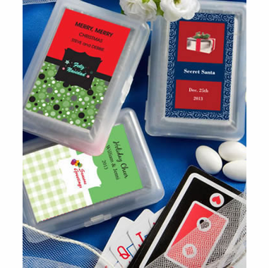 Christmas Playing Cards  - Customization on Label Only