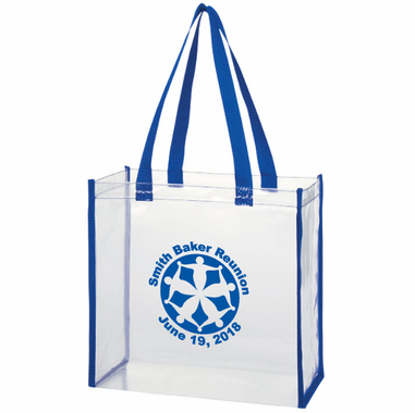 Clear Plastic Tote Bags - Personalized