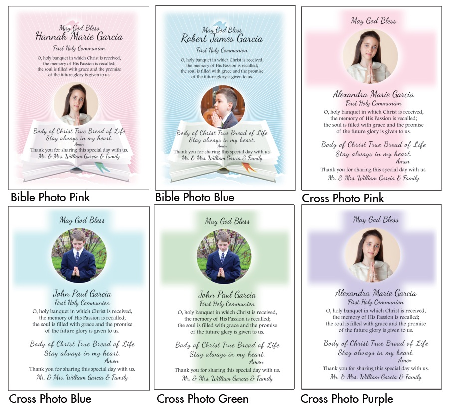 communion remembrance cards