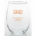 Country Wedding Reception Favors Glasses