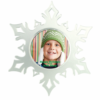 Custom Photo Ornaments Snowflake