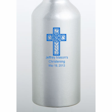 Custom Printed  Aluminum Water Bottles Baptism Favors