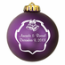 Custom Wedding Christmas Ornaments Acrylic Ball
