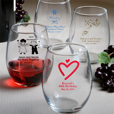 Custom Wine Glasses -  Stemless