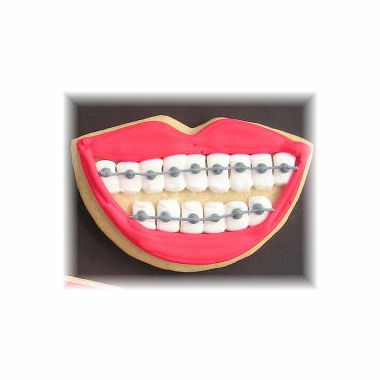 Dentist Cookies - Braces Smile
