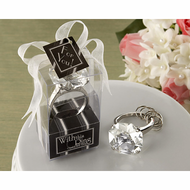 Diamond Rhinestone Wedding Favors Keychain