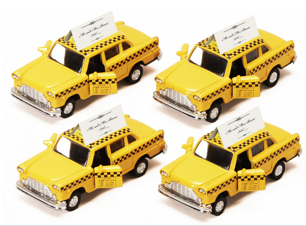 20 Classic Taxicab Place Card Holders Wedding Bridal Baby Shower Party Favors