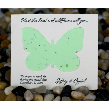 Eco Party Favors Card - Green Plantable Butterfly