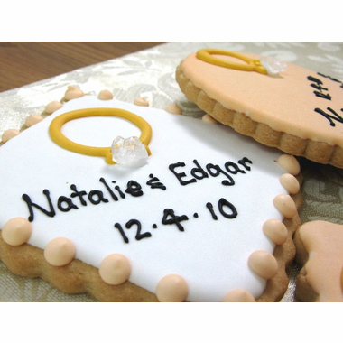 Engagement Ring Cookie for Wedding