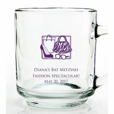 Fashion Theme Bat Mitzvah Mugs