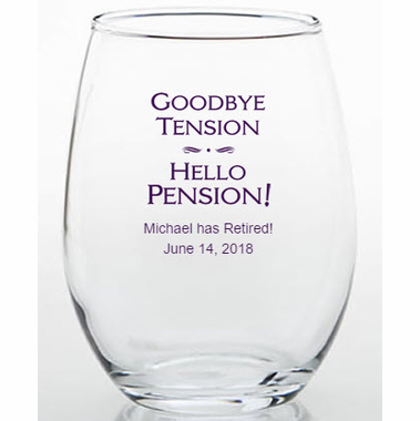 Favors for Retirement Party Glasses