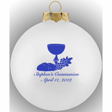 First Communion Ornament Glass