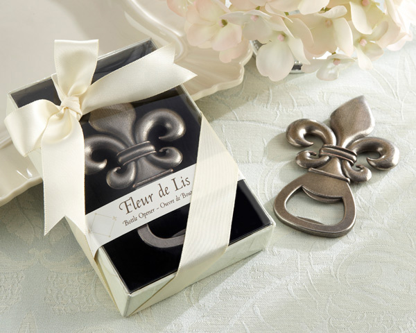 Fleur de Lis Wedding Favors Bottle Opener