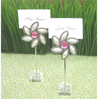 flower theme garden party favors set of 12 placecard holders. beautiful ideas. Home Design Ideas