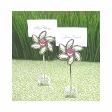 Flower Theme Garden Party Favors - Set of 12 Placecard Holders