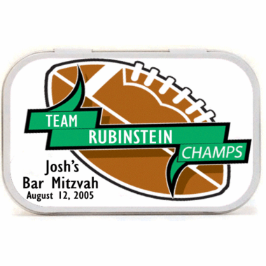 Football Team Theme Mint Tins
