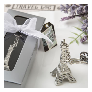 French Party Favors Eiffel Tower Keychains