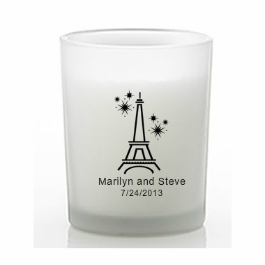 French Theme Wedding Favor Votive Candle