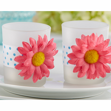 Gerber Daisy Candles - Set of 2 - SALE