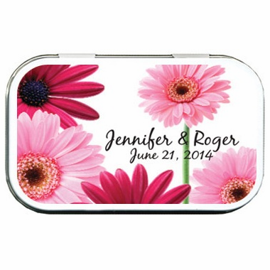 Gerber Daisy Favors Mint Tins