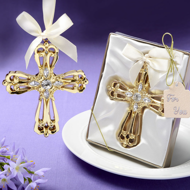 Gold Cross Christmas Ornaments