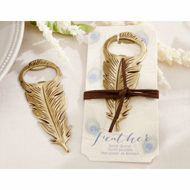 Gold Feather Bottle Openers