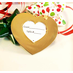 Gold Heart Mini Photo Frame Ornaments