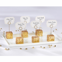 Gold Place Card Holders - Set of 6