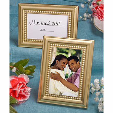 Gold Wedding Theme Placecard Holder