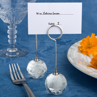 Golf Place Card Holders Glass Balls