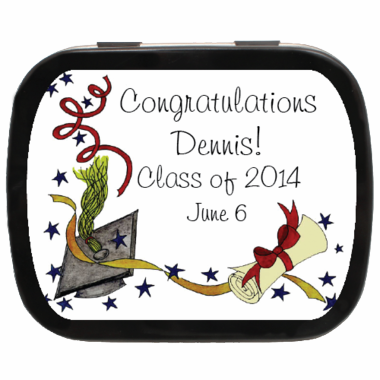 Graduation Candies Table Decoration Tins
