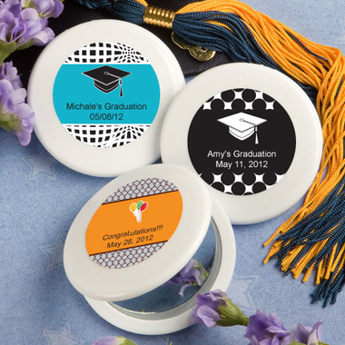Graduation Compact  Mirrors Favors