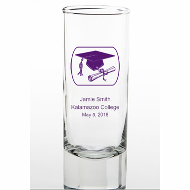Graduation Shooter Glasses Personalized