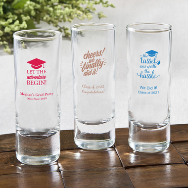 College Graduation Shooter Glasses Personalized