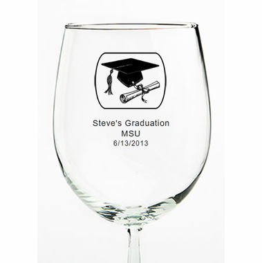 Graduation Wine Glasses