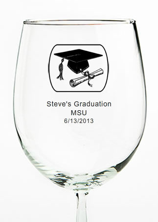 466387b29fe3 Graduation Wine Glasses