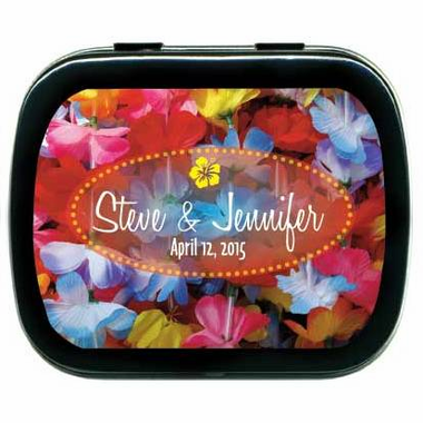 Hawaiian Wedding Favors Luau Mint Tins